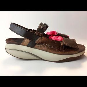 ac8e9428d7b5 MBT SASA Copper Leather CASUAL shoes sandals